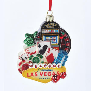 Kurt Adler Las Vegas Glass Ornament, C7561