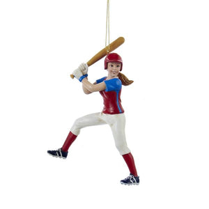 Kurt Adler Softball Girl Ornament, C8594