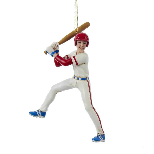 Kurt Adler Baseball Boy Ornament, C8595