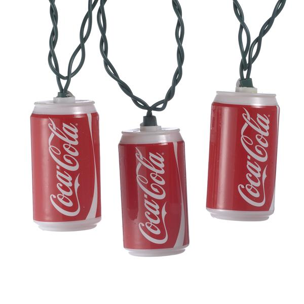 Kurt Adler Coca-Cola Can Light Set, CC0748