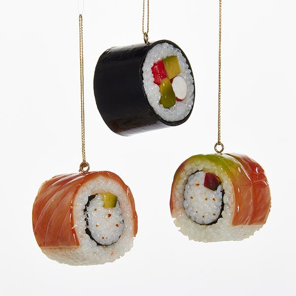 Kurt Adler Sushi Ornaments, 3 Assorted, D2830