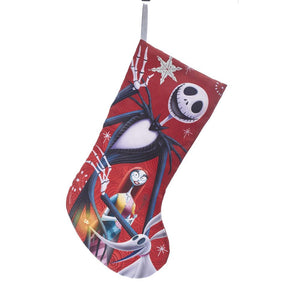 Kurt Adler Disney The Nightmare Before Christmas Jack and Sally Stocking, DN7190