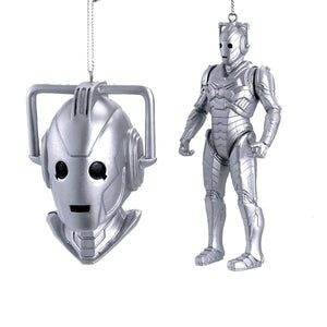 "Kurt Adler 3.5-4.5"" Dr Who Cyberman Figure/Bust, DW1153"