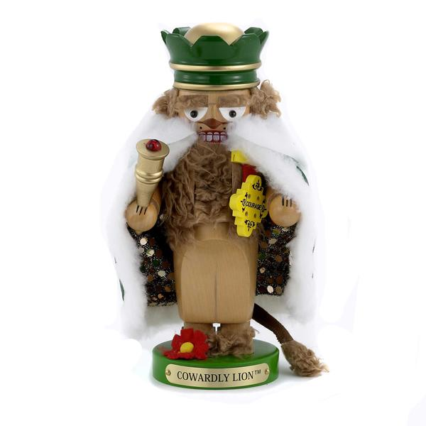 Kurt Adler 11-Inch Wizard of Oz Steinbach Chubby Cowardly Lion Nutcracker, ES1579