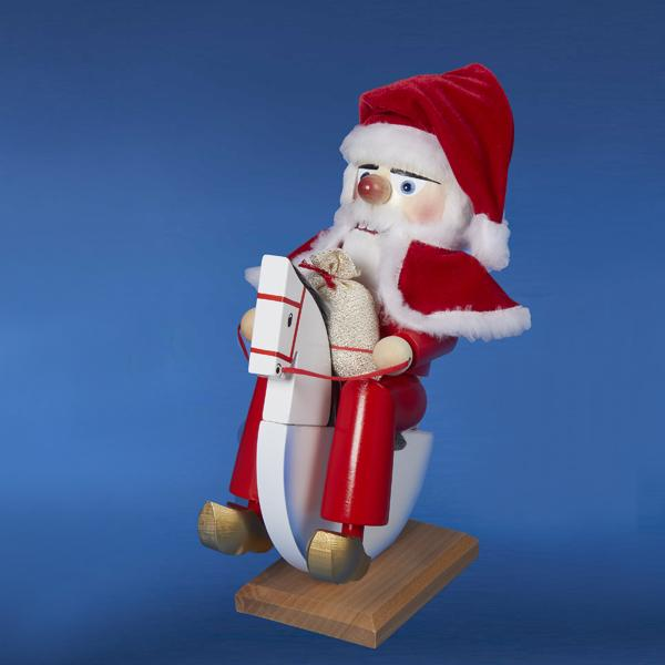 Kurt Adler 13-Inch Steinbach Santa On Rocking Horse Nutcracker, ES1652