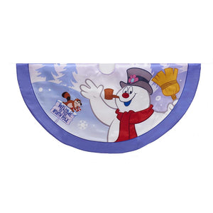 "Kurt Adler 44"" Frosty the Snowman Satin Printed Treeskirt, FT7181"