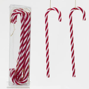 Kurt Adler Candy Cane Hanging Ornaments, 12-Piece Box Set, H0073