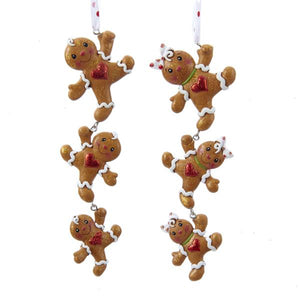 Kurt Adler Gingerbread Boy and Girl String Ornaments, 2 Assorted, H5031