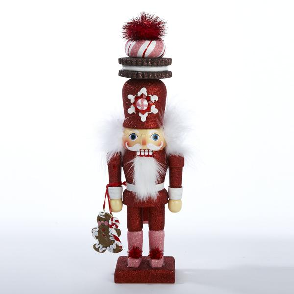 Kurt Adler 12-Inch Hollywood Gingerbread With Cookie Hat Nutcracker, HA0066