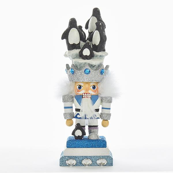 Kurt Adler 11-Inch Hollywood Penguin Hat Nutcracker, HA0312