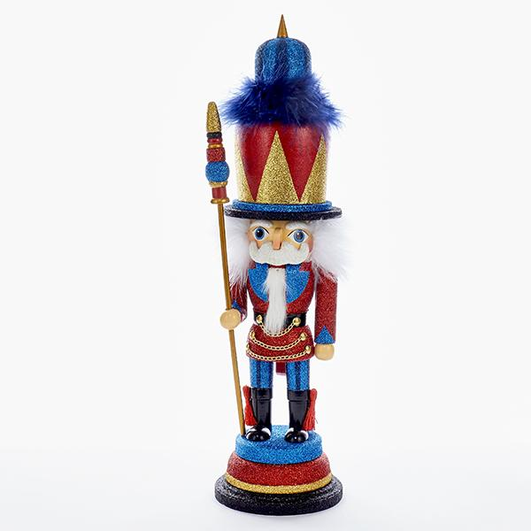 Kurt Adler 18-Inch Hollywood Red, Blue, and Gold Soldier Nutcracker, HA0315