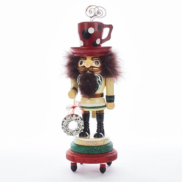 Kurt Adler 16-Inch Hollywood Coffee Mug Hat Nutcracker, HA0318