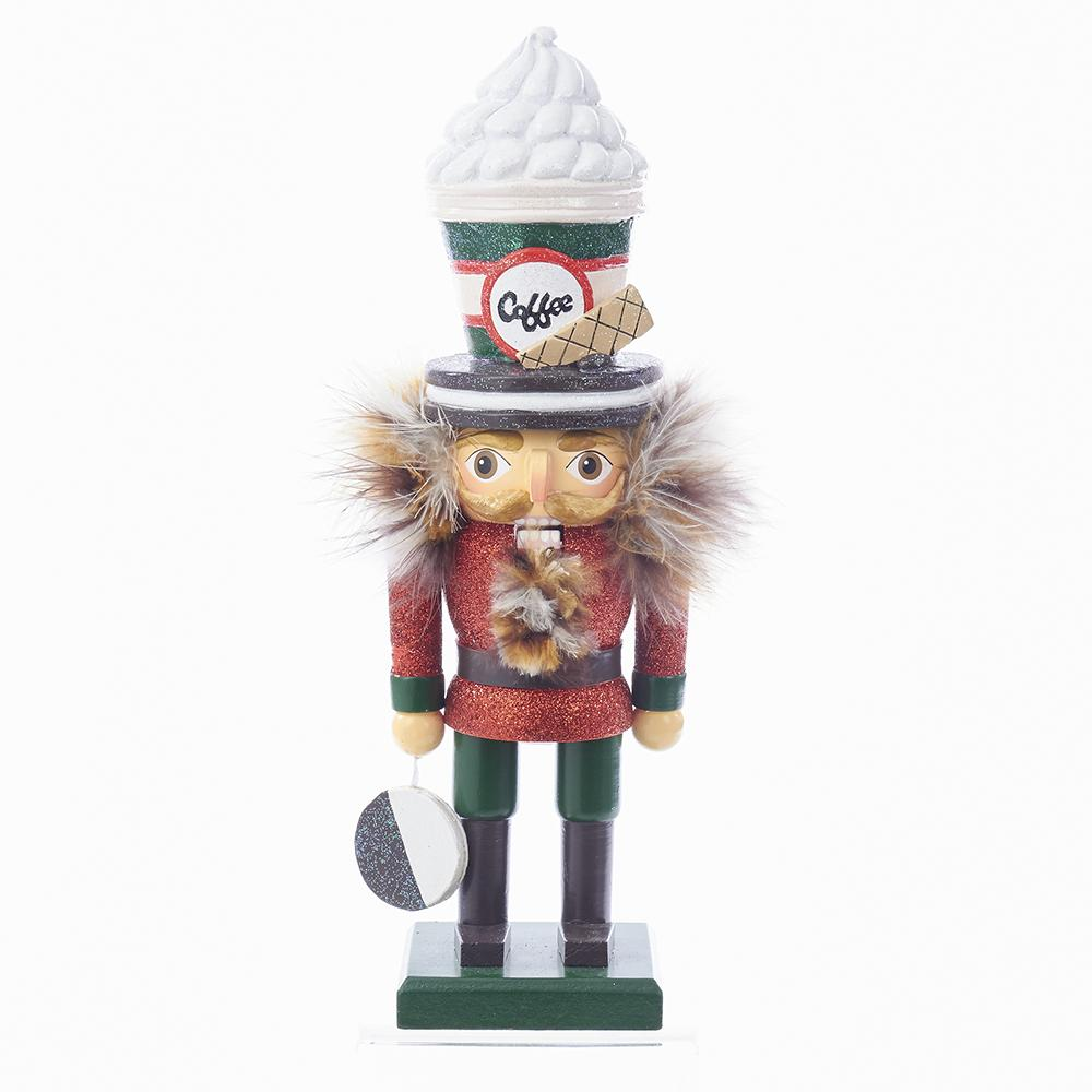 Kurt Adler 12-Inch Hollywood Coffee Hat Nutcracker, HA0342