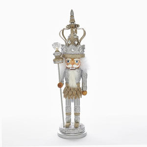 Kurt Adler 19-Inch Hollywood Platinum King Nutcracker, HA0367