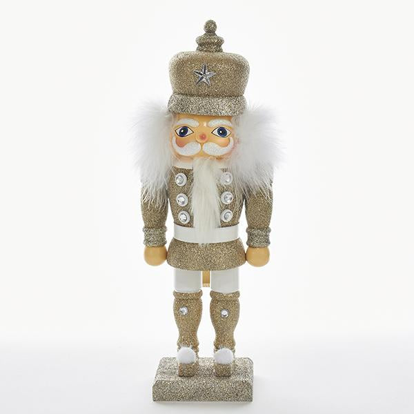 Kurt Adler 14-Inch Hollywood Platinum Soldier Nutcracker, HA0370