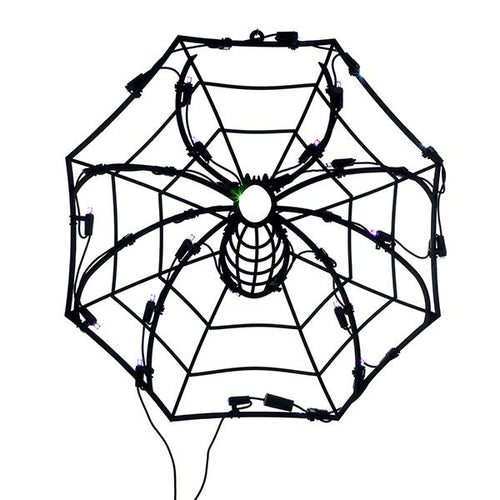 Kurt Adler Halloween Spider Light Window Decoration, HW1499