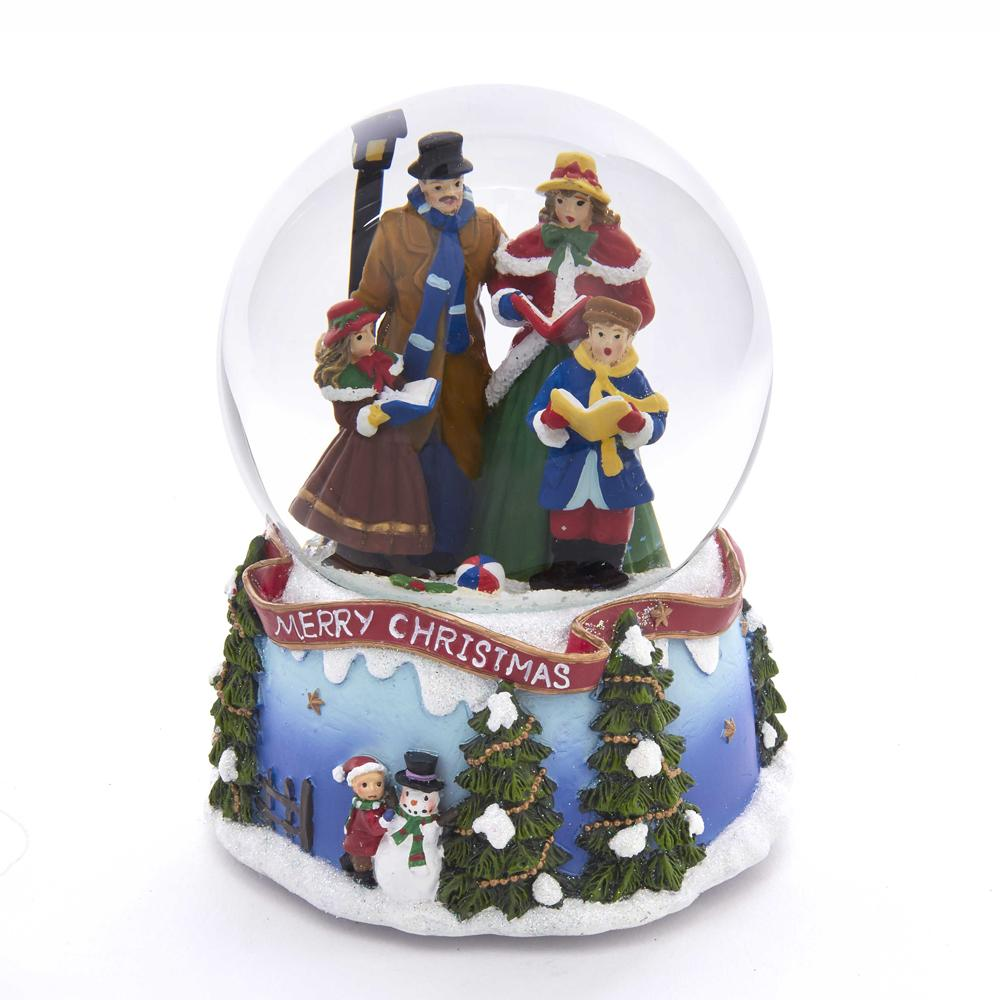 Kurt Adler 100MM Caroling Family Musical Water Globe, J3260