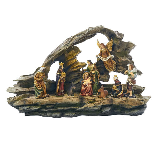 Kurt Adler Nativity Grotto Scene LED Table Piece, J7347