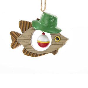 Kurt Adler Fish With Bobber Dangler Ornament, J8471