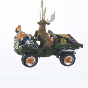 Kurt Adler Deer Driving Hunter Ornament, J8489