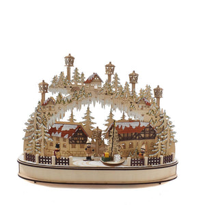 Kurt Adler Battery-Operated Musical LED Village Table Piece, J8492