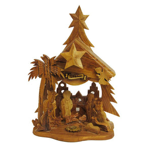 Kurt Adler Olive Wood Nativity Music Box, LOC0002