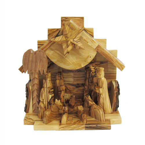 Kurt Adler Olive Wood Nativity Music Box, LOC0003