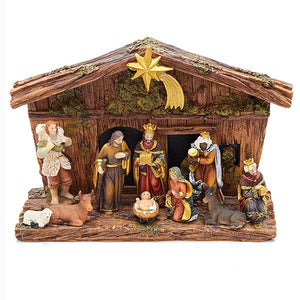 Kurt Adler Nativity Set With 10 Figures and Stable, N0287