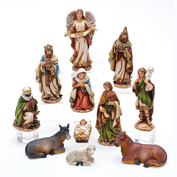 Kurt Adler 11-Piece Nativity Set, N0288