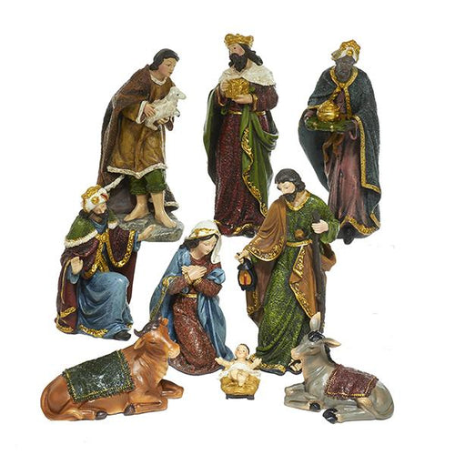 Kurt Adler Nativity Set With 9 Figures, N0290