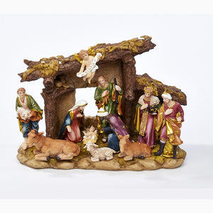 Kurt Adler Nativity Set With 11 Figures and Stable, N0296