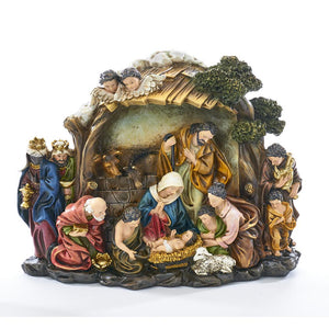 Kurt Adler Nativity Scene Table Piece, N1017