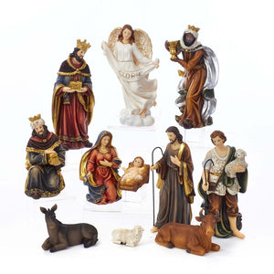 Kurt Adler Nativity Table Piece, Set of 11 Pieces, N1018