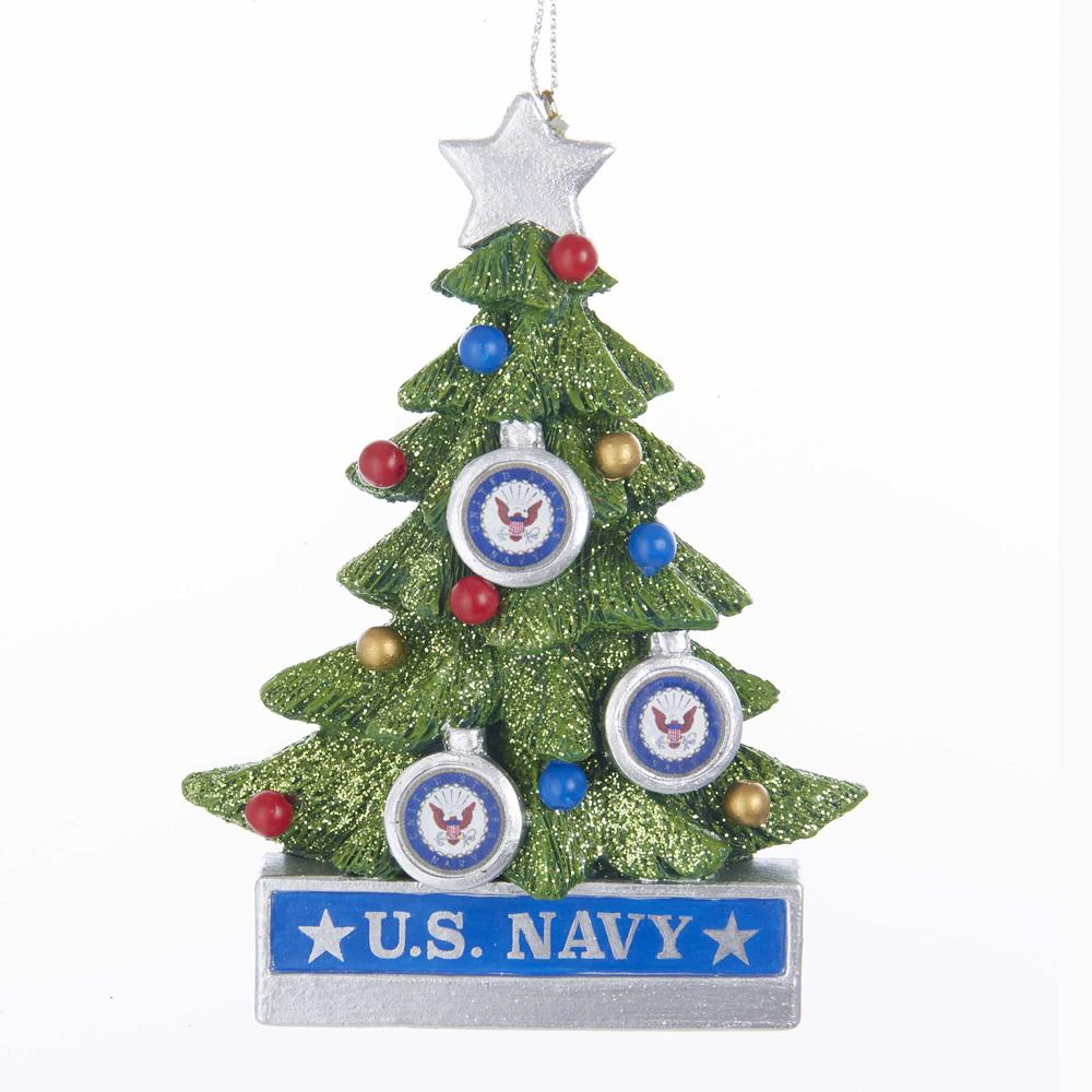 Kurt Adler U.S. Navy Christmas Tree Ornament, NA2181