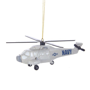 Kurt Adler U.S. Navy Helicopter Ornament, NA2182