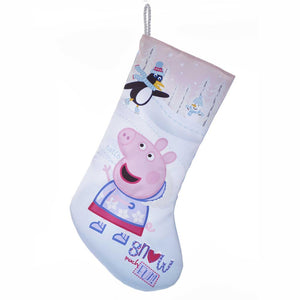 "Kurt Adler 19"" Peppa Pig Satin Printed Stockng , PA7181"