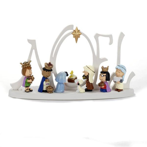 Kurt Adler Peanuts© Battery-Operated LED Lighted Nativity Scene, PN5152
