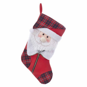 Kurt Adler Felt Santa Stocking, SG0188