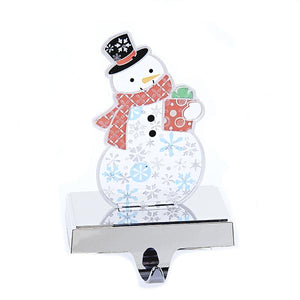"Kurt Adler 8.25"" Flashing Snowman Stocking Holder, T2022"