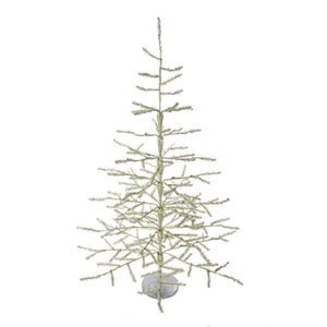 Kurt Adler 36-Inch Sterling Silver Coral Christmas Tree, TR0035