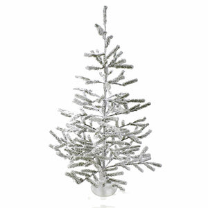 Kurt Adler 36-Inch Flocked Alpine Coral Christmas Tree, TR0037