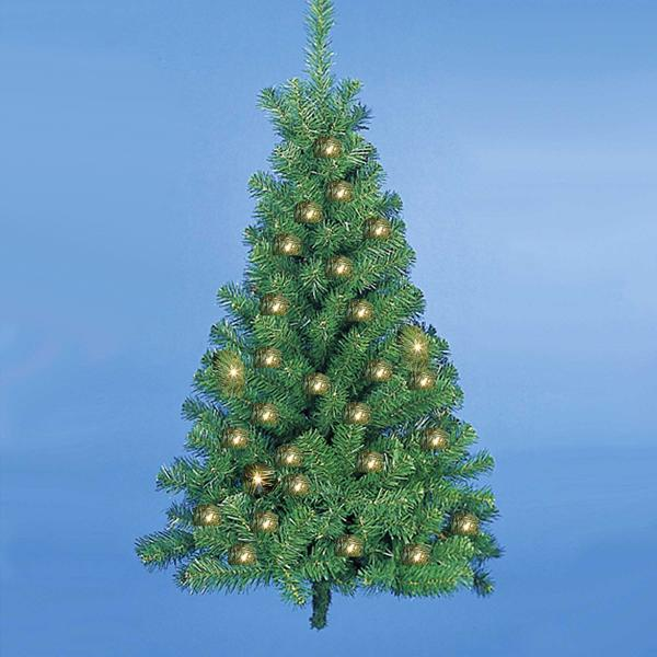 Kurt Adler 4-Foot Pre-Lit Norway Pine Wall Christmas Tree, TR1076