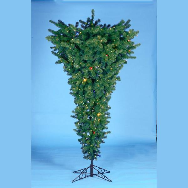 Kurt Adler 4.5-Foot Pre-Lit Upside Down Christmas Tree, TR2156