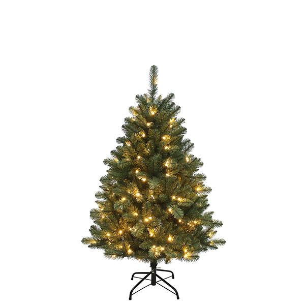 Kurt Adler 4.5-Foot Pre-Lit LED Northwood Pine Christmas Tree, TR2360LED