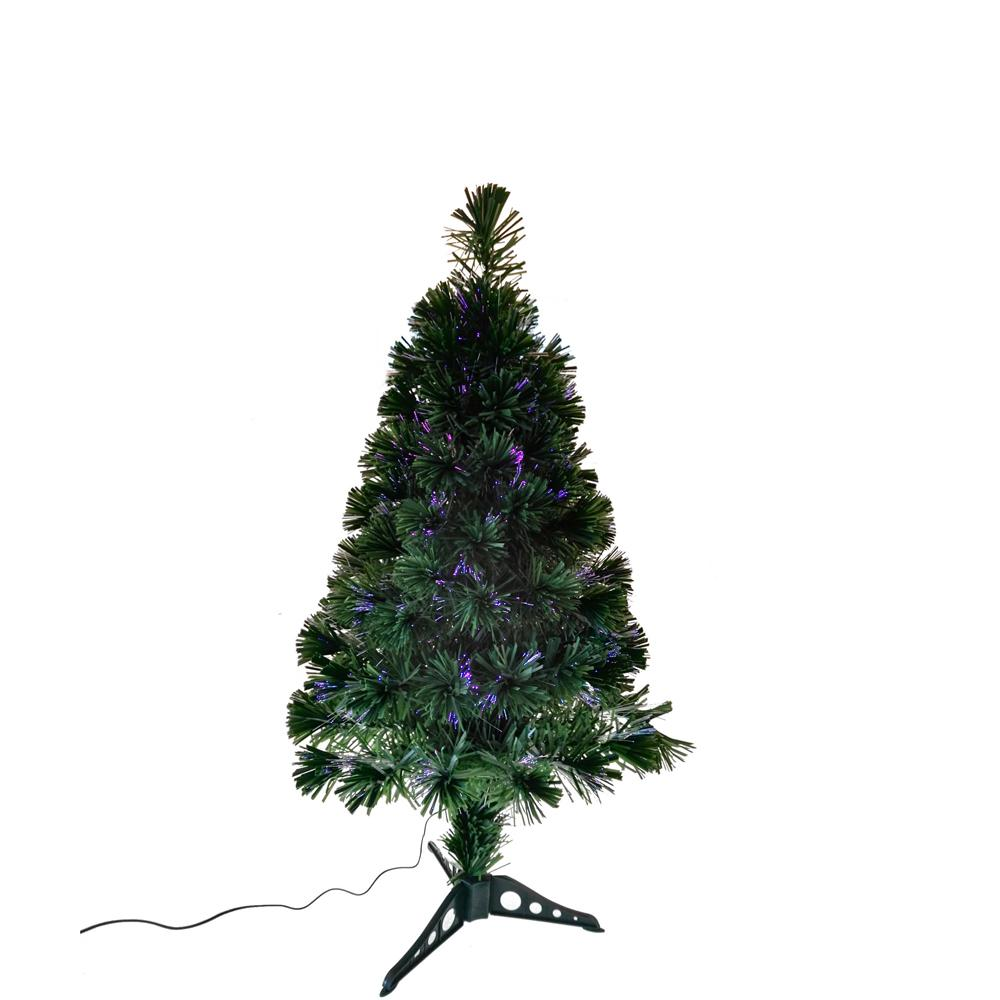 Kurt Adler 36-Inch Fiber Optic Green Christmas Tree With Multi-Color LED Lights, TR2477GR