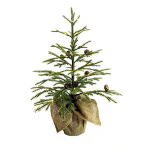 Kurt Adler 24-Inch Pre-Lit LED Angel Fir Christmas Tree, TR2604