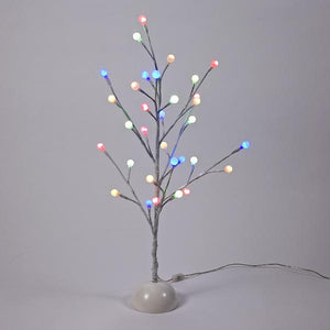 Kurt Adler 24-Inch Pre-Lit White Gumball Christmas Tree With Multi-Colored LED Lights, TR3209TW