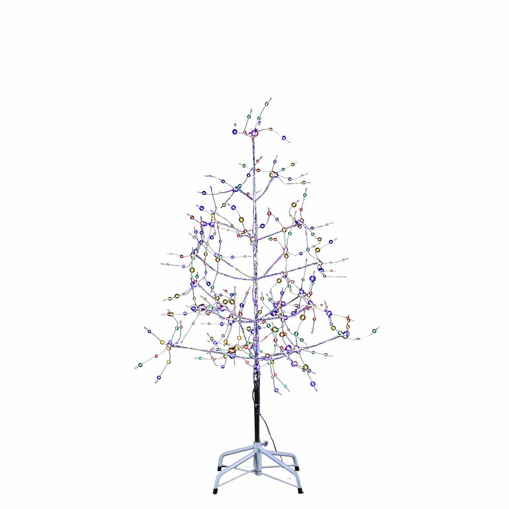 Kurt Adler 4-Foot Silver Bark Christmas Tree With Multi-Color LED Fairy Lights, TR3221M