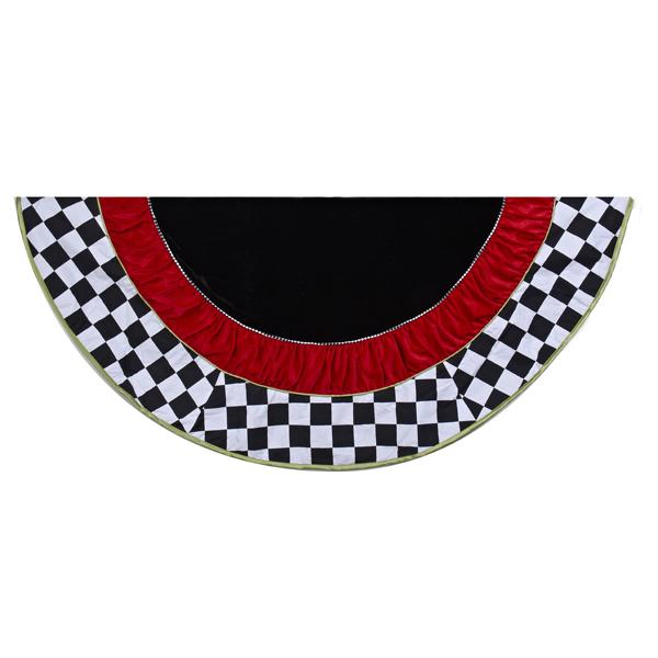 Kurt Adler 52-Inch Black and White Checkered Tree Skirt, TS0133