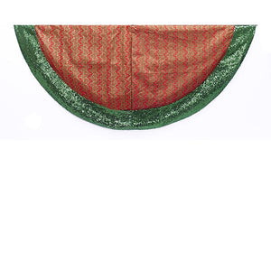 Kurt Adler 48-Inch Red and Green Tree Skirt, TS0165